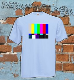 teste de cor livre Desconto TESTE de TV a cores Big Bang Theory Sheldon NENHUM SINAL TV T-Shirt Leonard 12 CORES Engraçado frete grátis Unisex presente Ocasional