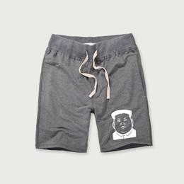 Pantaloni corti degli uomini coreani di modo online-Celebrità coreane 2018 Pantaloni corti estivi Uomo Fitness allenamento Casual stampa in cotone Plus Size Pantaloni corti Marchio di moda