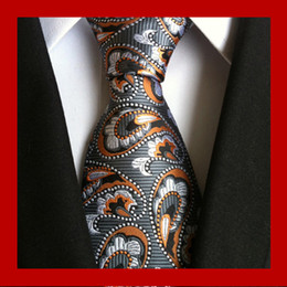Wholesale Mens Business Style - 95 Styles Men Silk Ties Fashion Mens Neck Ties Handmade Wedding Tie Business Ties England Paisley Tie Stripes Plaids Dots Necktie