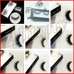 Wholesale Handmade Eyelashes - 3D Synthetic Hair False eyelashes 20 Styles Handmade Beauty Thick Long Soft Lashes Fake Eye Lashes Eyelash