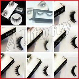 Wholesale Natural Hair Beauty - 3D Synthetic Hair False eyelashes 20 Styles Handmade Beauty Thick Long Soft Lashes Fake Eye Lashes Eyelash