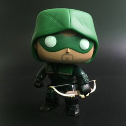 Wholesale Justice League Wholesale - Funko POP Justice League Green Arrow Toy doll Superhero Movie Figure Doll Decoration Model Oliver Quinn 207