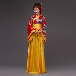 Kaiserliche kleider online-Chinesische alte weibliche Fee Hanfu Prinzessin Dress Imperial Concubine Kostüm Bühne Volkskleidung traditionellen Tanz Kleidung