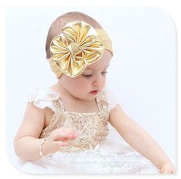 Wholesale Children United States - Burst popular Hair Accessories 7 color Europe and the United States children bronzing metal Big bow headband fashion hoop baby headdress