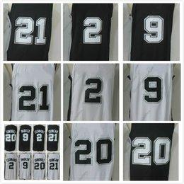 Wholesale Parker Top - 2017-18 SAS 2 Leonard 9 Parker 20 Ginobili 21 Duncan Player Version Basketball Jerseys For Men White Red Blue S-XXL Top Quality Wholesale