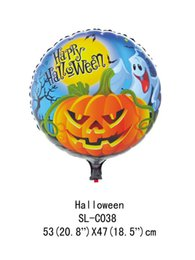 kylie jenner maquillage de noël Promotion Helloween fleuret ballons 45 * 45 CM Halloween décorations de fête balles à air gonflable ballon d'hélium ballons d'anniversaire fournitures de fête