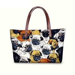 293e0e0ce3dc cute dog bags totes Promo Codes - Large Women Handbags Cute Animal Pug Dog  Prints Messenger