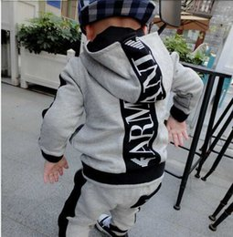 Wholesale Baby Boy 12 18 - KIDS SETS HOODIES LONG SLEEVE BABY CLOTHES BOYS 24M-7T