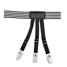 Apparel Accessories Provided Mens Shirt Crease-resist Anti-skid Clip Legs Thigh Elastic Adjustable Suspender Holder Stays Garters For Gentlemen A30