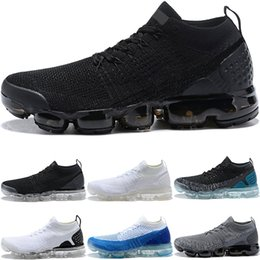 Wholesale Sport Winter Boots For Men - 2018 Vapormax 2.0 New Running shoes For Men Triple s White Black Cool Grey TPU Trainers Fashion Designer Sport Sneakers eur 36-45