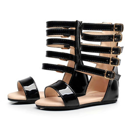 ece220d353401 On Sale Summer Baby Girls Gladiator Shoes Roman Children Shoe Kids Leather  High Heels Open Toe Little Girl Fashion Sandals discount little girls  summer ...