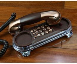 telefone de casa rosa quente Desconto Mini Retro Pendurado Telefone Da Parede CHAMADA Com Redial Mudo Ajustar Ringtone Pause Backlight Montado Telefones Antigos Fixe Telefonos De Casa