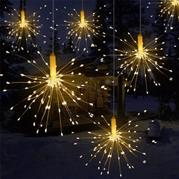 decorazioni natalizie di babbo natale Sconti 50 pezzi 200 fuochi d'artificio a led a led 8 modalità luci a LED a LED telecomando decorazione fai da te luce di natale per festa di nozze bar bar