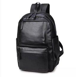 Zaino di cuoio dell'unità di elaborazione di stile grazioso NUOVI uomini neri 15 pollici di modo maschio casuale dei sacchetti di spalla della scuola dei ragazzi per lo zaino degli uomini cheap pretty backpacks for school da zaini piatti per la scuola fornitori