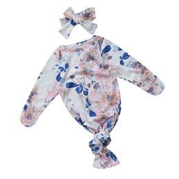 Wholesale Baby Wrap Brands - 2017 New Brand Newborn Infant Toddler Baby Swaddle Blanket Baby Sleeping Swaddle Muslin Wrap Headband 2Pc Sleeping Bag 0-3M