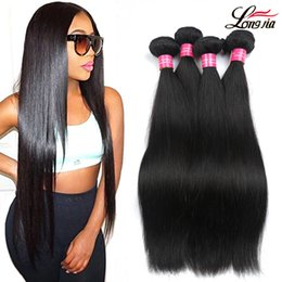 Wholesale cheap virgin brazilian hair extensions - Brazilian Virgin Hair Straight 3 4 Bundles 100% Unprocessed straight Human Hair Extension Cheap peruvian malaysian indian Human Hair Weaving