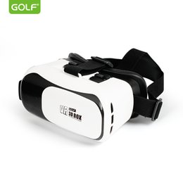 Wholesale game helmets - GOLF 3D Cardboard Helmet Virtual Reality VR Glasses Headset Stereo Games Box For iPhone 4 5 6 7 Plus Mobile Phone 4.0'' to 6.0''