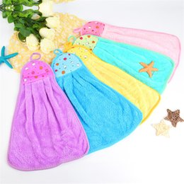Wholesale Velvet Smile - Quick-drying Smiling Cartoon soft Hand Towels Kitchen Towel Coral Velvet Absorbent Lint-Free Cloth Dishcloths