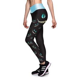 Wholesale Cat Women Leggings - Hot Sales! 3D Print Sporting Leggings Women Cat Eyes Printed Fitness Pants Legging Leggigns Plus Size 16 Styles Workout Clothes