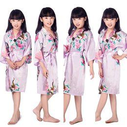 Children New Light Purple Vintage Japanese gril s Kimono kids Floral Print Dressing  Gown traditional japanese Kimono. Supplier  shengui a6e41e896