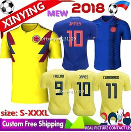 3883fc718d9 NEW Colombia jersey 2018 World Cup Colombia home soccer jersey 18 19 away FALCAO  JAMES CUADRADO TEO BACCA football shirt size S - XXXL