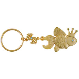 Wholesale Boutique For Sale - Wholesale- Boutique keychains cute gold fish pendant keychain amulet bring luck and wealth in business housekeeper family gift for sale