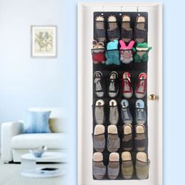 Wholesale Hanging Shoe Bag Organizer - 24 gable non-woven Household Door Wall Hanging Shoes Organizer Storage Stuff Bags Home SStorage Organization Bags Hanging Storage Pouches