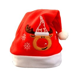 Rosa renna online-2017 Fashion Style Christmas Hat Bambini Babbo Natale renna pupazzo di neve cappello carino per la festa di Natale nuova marca