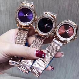 2019 banda resistente à água Senhoras marca relógios de luxo 34mm dial diamante moldura de aço Inoxidável banda de moda relógio de quartzo para as mulheres Resistente À Água Montre Femme desconto banda resistente à água