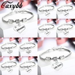 fascino nipote Sconti Caxybb papà mamma sorella nipote bracciale gioielli braccialetto dell'amico di padre e madre regalo di giorno la famiglia padre madre