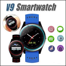 Wholesale Iphone Bluetooth Sync - V9 Bluetooth Smart Watch Smartwatch Built-in SIM Card Slot Call Sync Watch GPS Smart Watches For iPhone and Android Phones MQ20