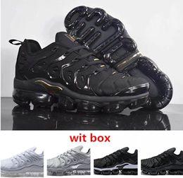 Wholesale Box Best - 2018 Vapormax TN Plus TN2018 VM Olive Run In Metallic men running shoes best qualtiy sneaker fashion trainer with box free shipping