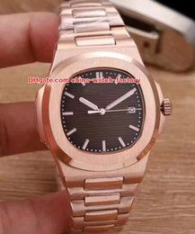 Wholesale 18k gold color - 7 Color Luxury High Quality Watch 40mm Nautilus 5711 1A 1R 010 Date 18k Rose Gold Sapphire Asia Mechanical Automatic Mens Watch Watches