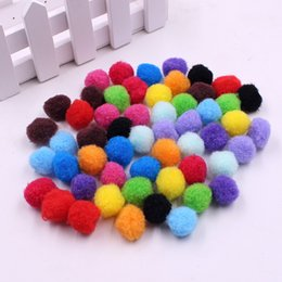 Wholesale Ball Bundle - 100pcs lot 5 Size High Elastic Yarn Fabric Plush Ball Eco-Friendly Clothing Felts DIY Bundle For Sewing Scrapbook Patches Crafts