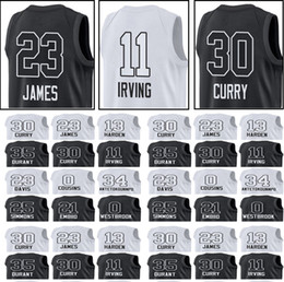 Wholesale 35 L - 2018 All Star game jerseys 23 LeBron 11 Irving 0 Westbrook 35 Durant 30 Curry 34 Antetokounmpo 21 Embiid 25 Simmons 23 Davis