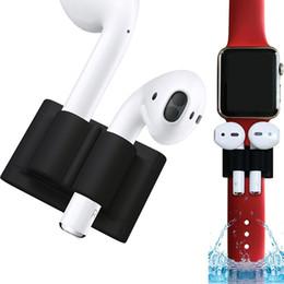 Titular Anti-perdida portátil Para Auriculares Apple Auriculares Inalámbricos Titular de Silicona Suave Caso EarPhone Accesorio Para Airpods Trabajo Con Banda de Reloj desde fabricantes