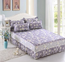 Wholesale Full Size Mattress Cover - Single   double bed Twin full queen size 1pcs Bed skirt, with elastic Bedspreads Skirt bedding Mattress cover Home Textiles