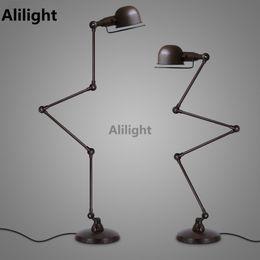 Wholesale Vintage Metal Stand - Vintage LED E27 Floor Lights Adjustable Arm Floor Lamps Metal Standing Lamp for Study Room Foyer Bedroom Indoor Lighing Fixtures