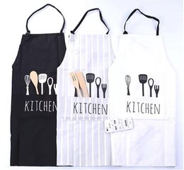 restaurant clothing Promo Codes - Chef Cooking Aprons Cotton Fashion Unisex Women Man Commercial Restaurant European-style Home Kitchen Aprons work clothes 3colors.