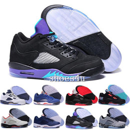 Wholesale blue reflective fabric - High Quality 5 OG Black Metallic Men Women Basketball Shoes 3M Reflective Effect Sup 5s Sneakers With Shoes Box