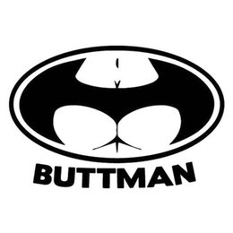 Adesivos de carro batman decalques on-line-Sexy Lady Decalques Buttman Batman Forma PET Etiqueta Do Carro Personalizado Etiqueta Da Janela Mix enviar