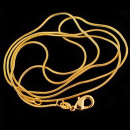Wholesale Set Pendant 18k Gold - 18K gold plated snake bone chain pendant with chain clavicle chain Europe and the United States the original single size 1mm