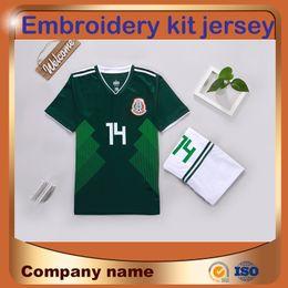 bf460e1867ef2 Copa Mundial de México 2018 Kit de casa Jersey de fútbol   14 CHICHARITO  Camiseta de fútbol LOZANO DOSSANTOS GUARDADO Traje de manga corta Uniforme  de ...