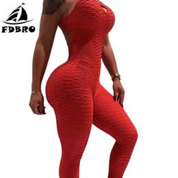 подъемная сила Скидка FDBRO тонкий комбинезон спинки тренировки тренажерный зал фитнес узкие брюки Sexy One Piece комбинезон Push Up йога брюки узкие леггинсы дамы