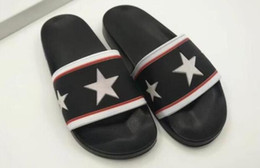 Wholesale Leather Soft Sole Slippers - AAAAA Women PARIS FLAT SANDALS Slippers RUBBER Sole,PARIS logo on the front,Size 35-39 Free Shipping