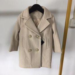 1e225513e45fc 2018 hiver longue veste solide filles mode manches longues tench manteaux  Cachemire enfants vêtements enfants chaud survêtement veste dessus