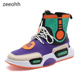 329b552b9e2 zeeohh 2018 Spring Autumn Comfortable Breathable Ankle Botas Men Sneakers  Hip Hop super cool High Top lace up Men Casual Shoes