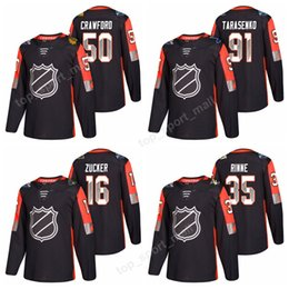 Wholesale Eric Staal Jersey - All Star 2018 Ice Hockey Jerseys All-Star Game Pacific Division Black Corey Crawford Nathan MacKinnon Eric Staal Pekka Rinne Jaden Schwartz