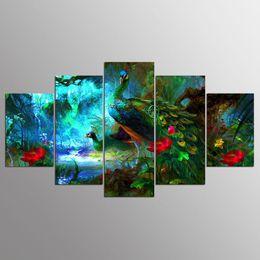 2019 pinturas grandes arboles pavo real, 5pcs, diy, diamante pintura pavo real punto de cruz, completo, diamante bordado, diamante, mosaico, patrón, bordado con cuentas, regalo, arte