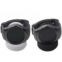 cargador de muelle de cuna para reloj de engranajes Rebajas Base de carga Gosear Cargador de la estación base con cable USB para Samsung Gear 2 II 3G 3 G Smart Watch Clásico R732 R720 Gadgets